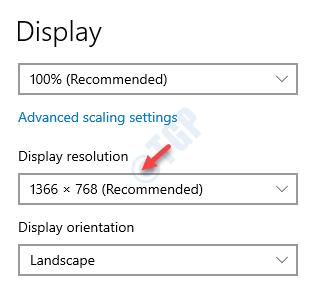 Configuración de pantalla Resolución de pantalla del lado derecho