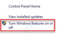 Programas y funciones del panel de control Activar o desactivar la función de Windows