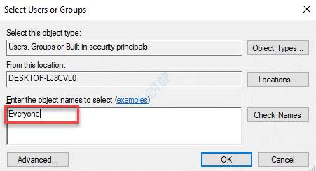 Seleccionar usuarios o grupos Ingrese los nombres de los objetos para seleccionar a todos