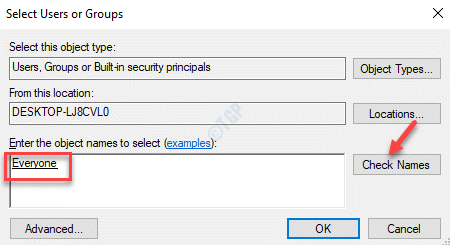 Seleccionar usuarios o grupos Verificar nombres Todos subrayados Ok
