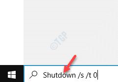 Iniciar la barra de búsqueda de Windows Ejecutar el comando de apagado