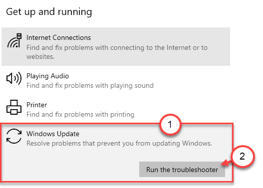 Solucionador de problemas de Windows Update Min