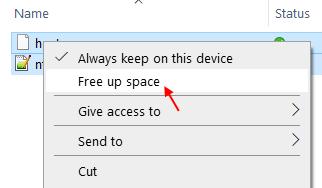 Liberar espacio
