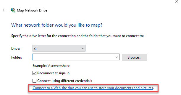Conectarse a un sitio web Min