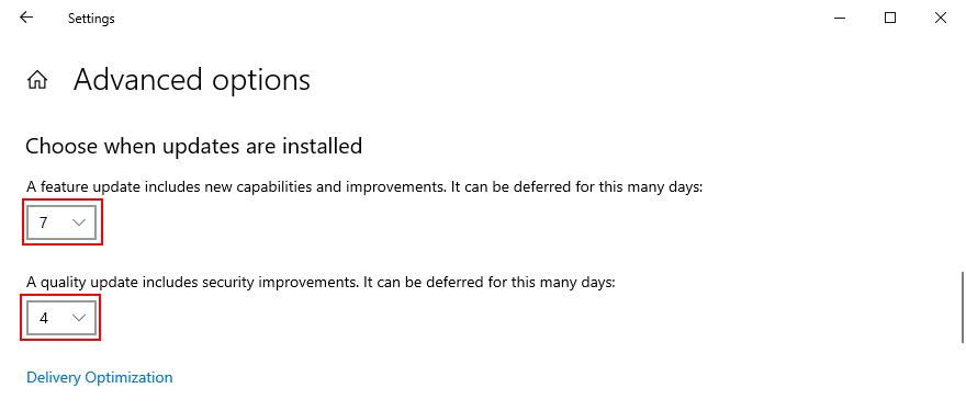 Windows 10 muestra cómo elegir cuándo se instalan las actualizaciones
