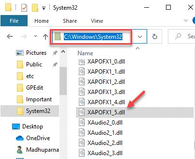 Explorador de archivos Navegue a la carpeta System32 Pegue el archivo Xapofx1 5.dll
