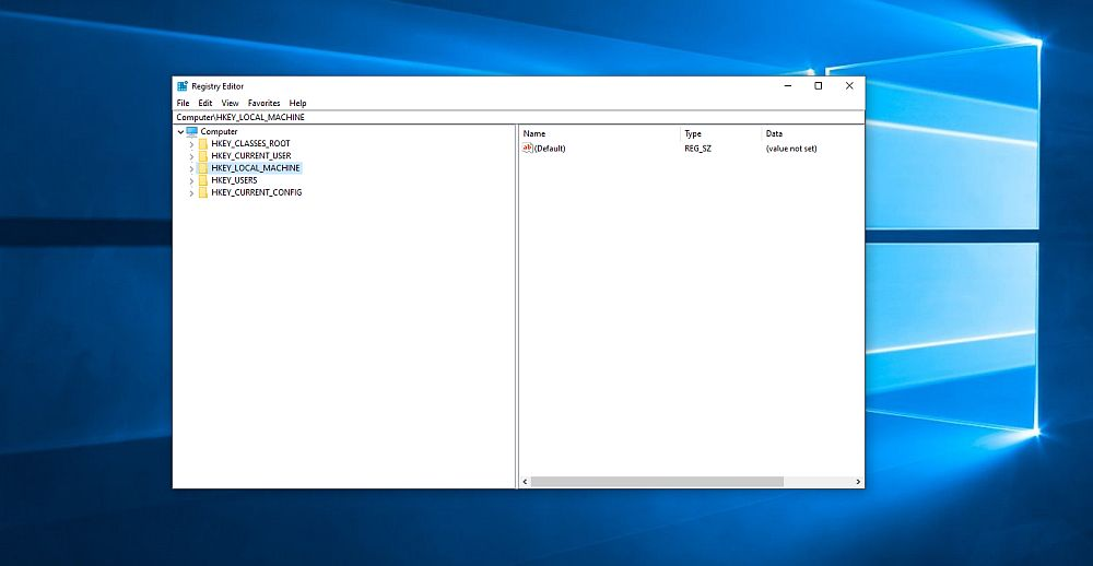 Limpiador de registro para Windows 10