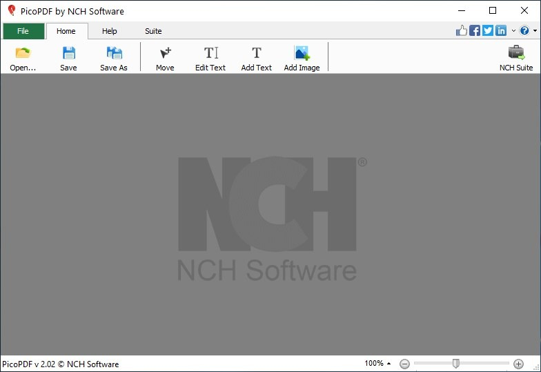 Agregue, elimine texto de archivos PDF con la herramienta PicoPDF gratuita y sin conexión