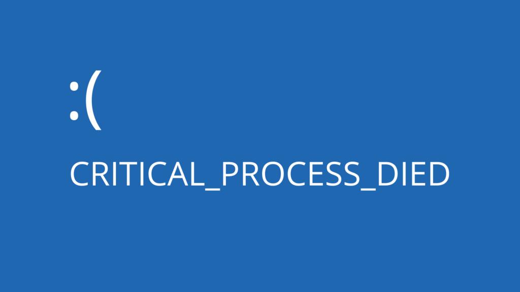 Stop Code Critical Process falleció