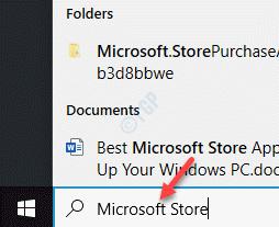 Inicie la barra de búsqueda de Windows Microsoft Store