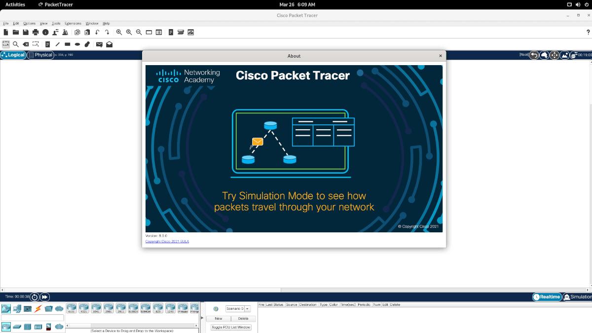 Cisco Packet Tracer en Linux