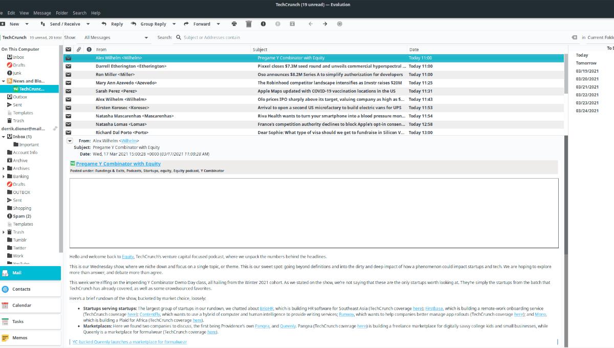 Complemento lector de RSS Evolution