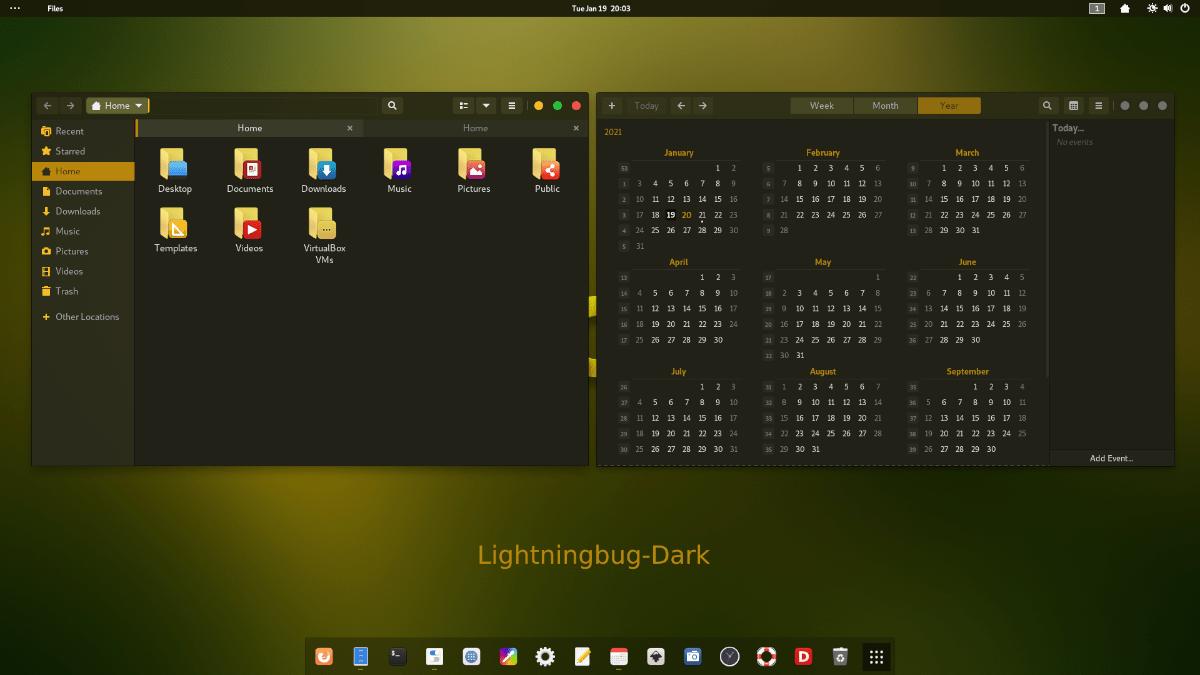 Tema LightningBug GTK en Linux