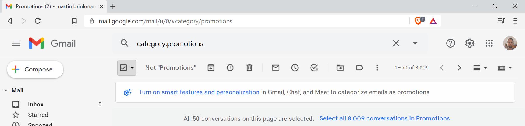 gmail eliminar masivamente el espacio libre
