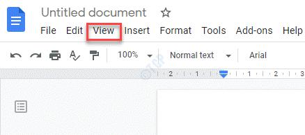 Pestaña Vista de Documentos de Google
