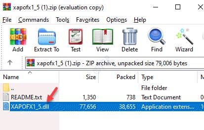 Archivo Zip Xapofx1 5.dll Copiar archivo