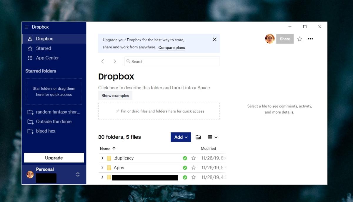 Dropbox no responde