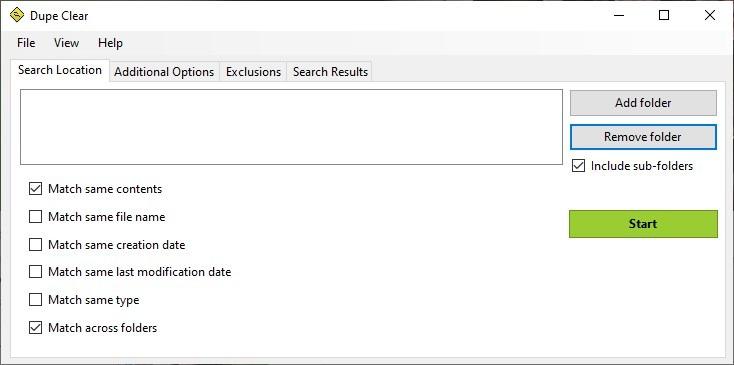 Dupe Clear es una herramienta de búsqueda de archivos duplicados de código abierto para Windows