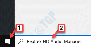 Inicie Windows Search Realtek Hd Audio Manager