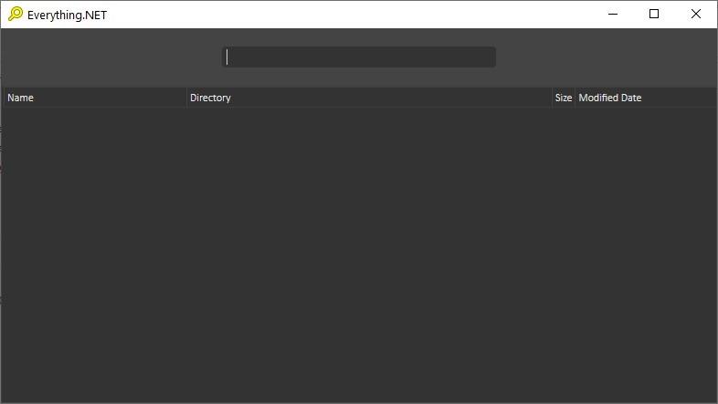 Everything.NET es una interfaz que agrega un modo oscuro y algunas funciones adicionales al motor de búsqueda Everything.