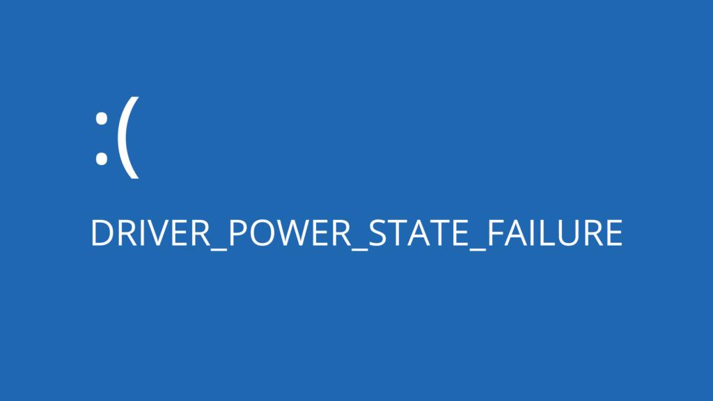 Fallo del estado de alimentación del controlador (Windows 10)