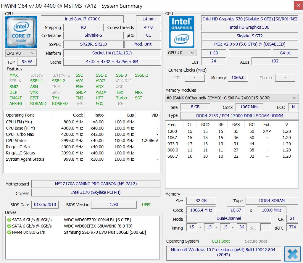 hwinfo64 7.0