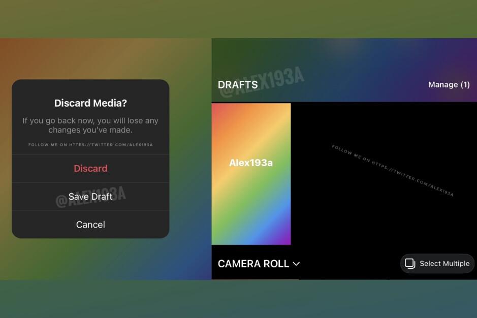 Pronto podrás guardar historias de Instagram como borradores
