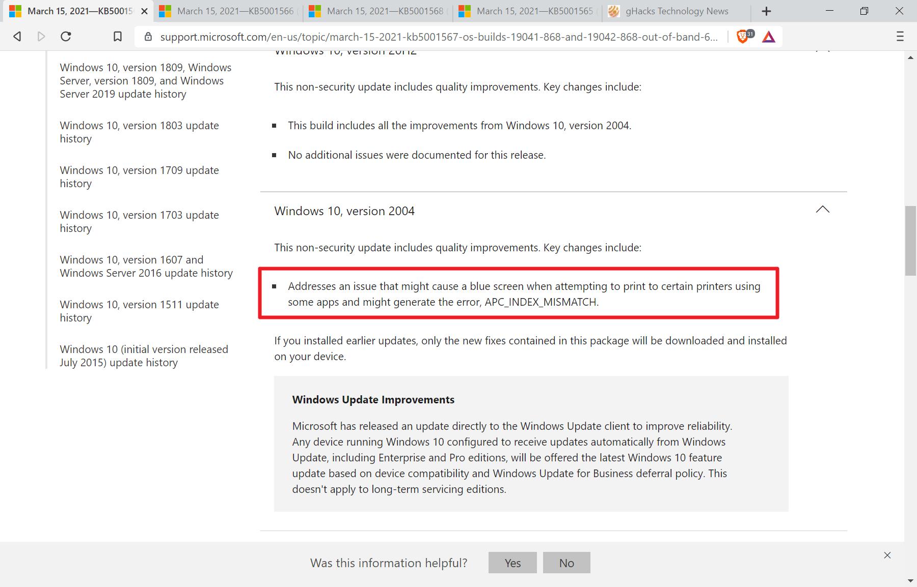 Problema de pantalla azul de impresión de Windows 10 solucionado