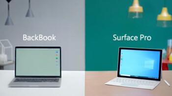 El último anuncio de Surface Pro de Microsoft se burla del BackBook de Apple ... espera, ¿qué?