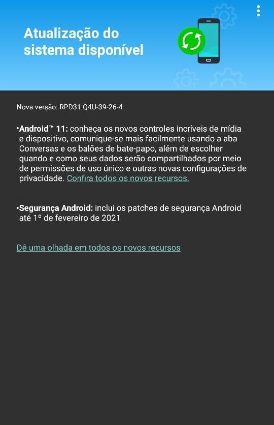 Motorola Edge también está obteniendo Android 11, pero con un parche de seguridad más antiguo