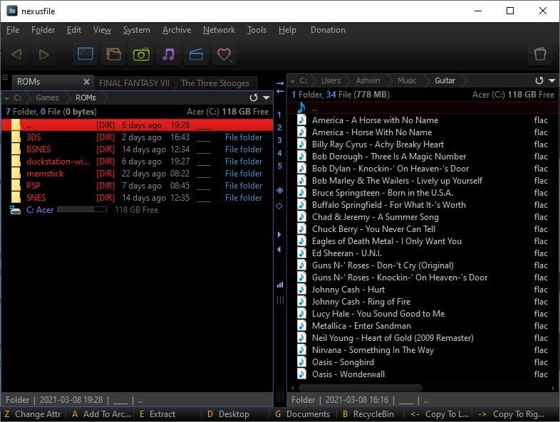 NexusFile es un administrador de archivos de doble panel gratuito similar a Total Commander