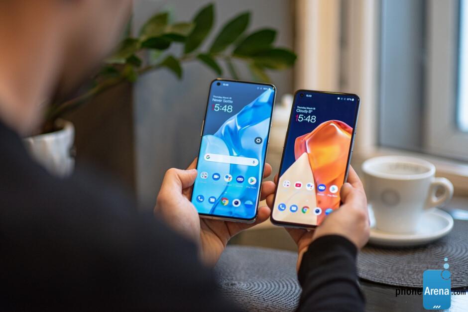 OnePlus 9 Pro - izquierda;  OnePlus 9 - derecha - OnePlus 9 vs OnePlus 9 Pro
