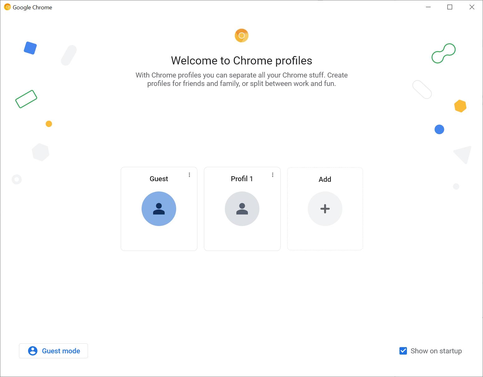 perfiles de google chrome