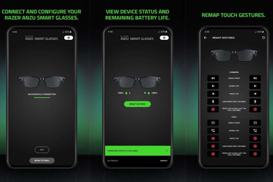 El Razer Anzu es un par de anteojos con auriculares de oreja abierta incorporados