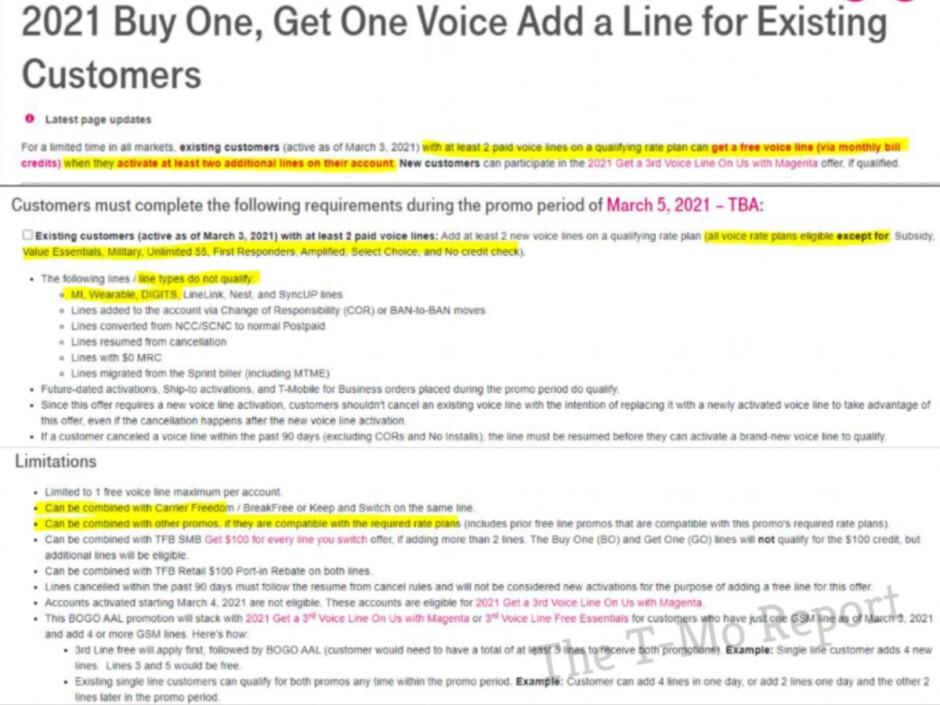 Los clientes actuales de T-Mobile tienen otra oportunidad de obtener una línea gratis (con cadenas)