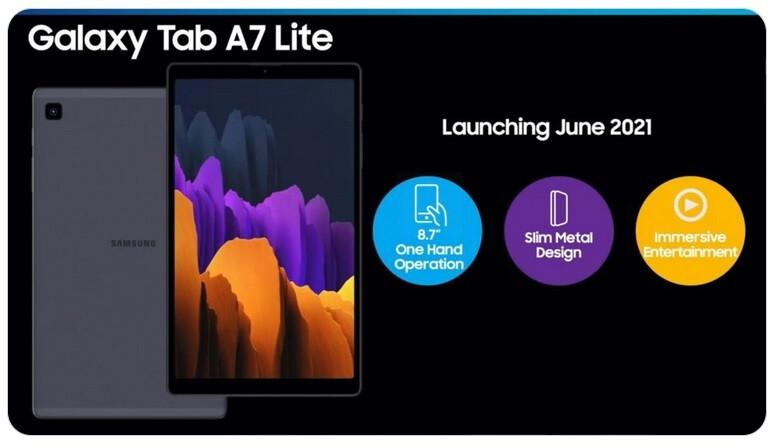 Material de marketing de Samsung Galaxy Tab A7 Lite filtrado por WalkingCat - Fuga de especificaciones para el Samsung Galaxy Tab A7 Lite
