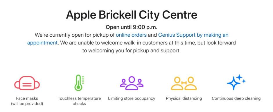Si bien las 270 tiendas Apple están abiertas, muchas tienen graves limitaciones sobre lo que pueden hacer los clientes: las 270 tiendas Apple de EE. UU. Ya están abiertas