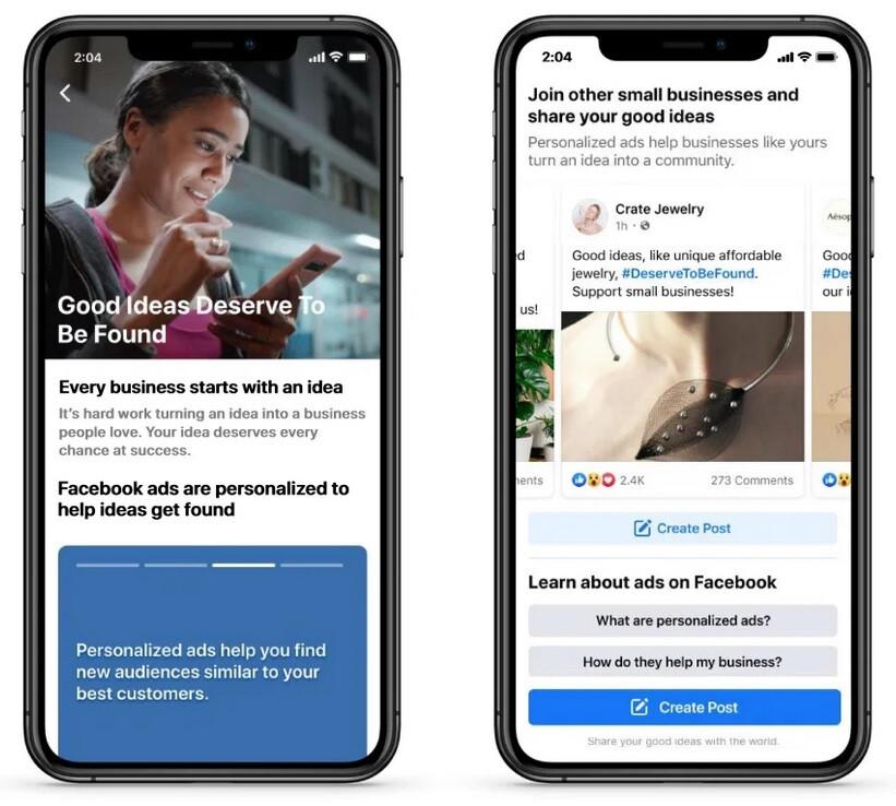 Facebook quiere seguir promoviendo las pequeñas empresas: se espera que la nueva función iOS de Apple perjudique a las pequeñas empresas, y Facebook apunta a revertir el daño.