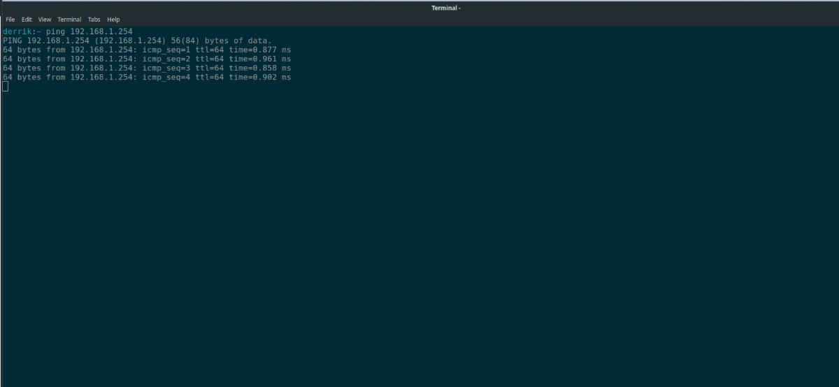 Computadora de ping de Ubuntu