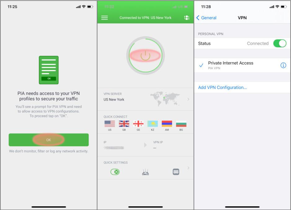 Configuración con un solo toque, VPN agregada automáticamente en la configuración: cómo proteger su teléfono inteligente con una VPN