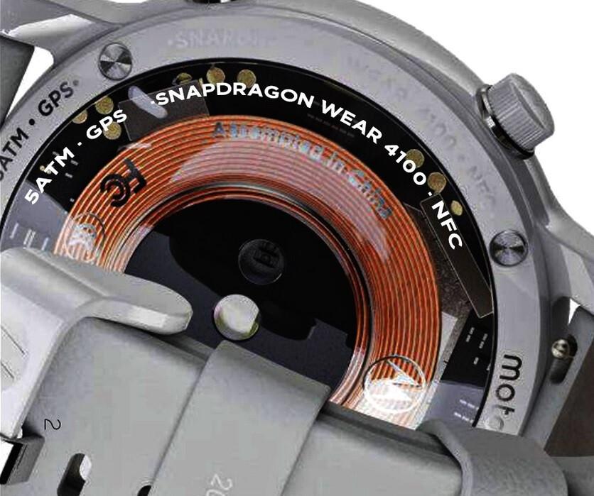 Una foto de un reloj Moto 360 blanco revela que funciona con Snapdragon Wear 4100 y cuenta con NFC: el reloj inteligente Fourth Moto que saldrá este verano con Snapdragon Wear 4100 y NFC en el interior.