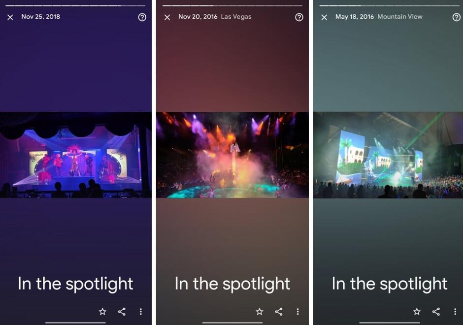 La categoría Recuerdos más reciente para la aplicación Google Photos se titula En el centro de atención.  Crédito AndroidPolice: Google agrega otra colección de