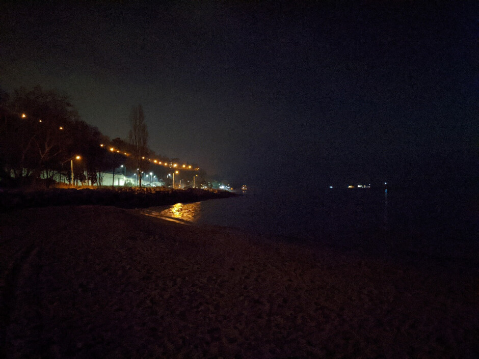 Vista nocturna apagada