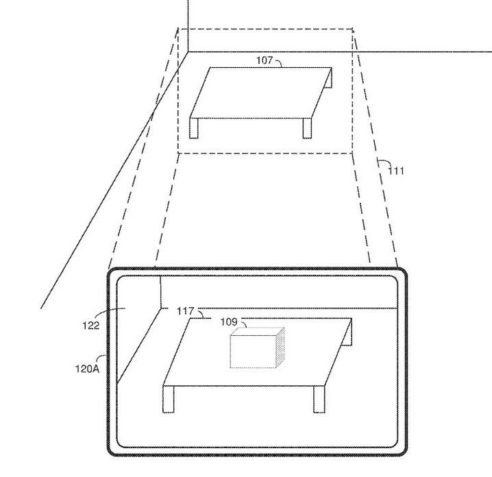 Un objeto real como la mesa se entromete con un objeto virtual como la caja que podría ser peligroso para el usuario del dispositivo: Kuo revela cómo Apple podría evitar que la vida real se inmiscuya en la realidad virtual.