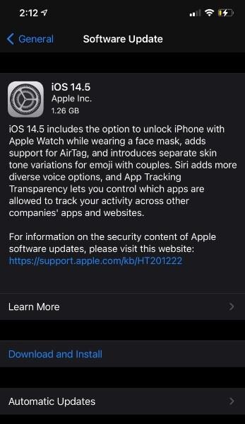 Ahora puede instalar iOS 14.5 en su iPhone - Apple finalmente lanza iOS 14.5