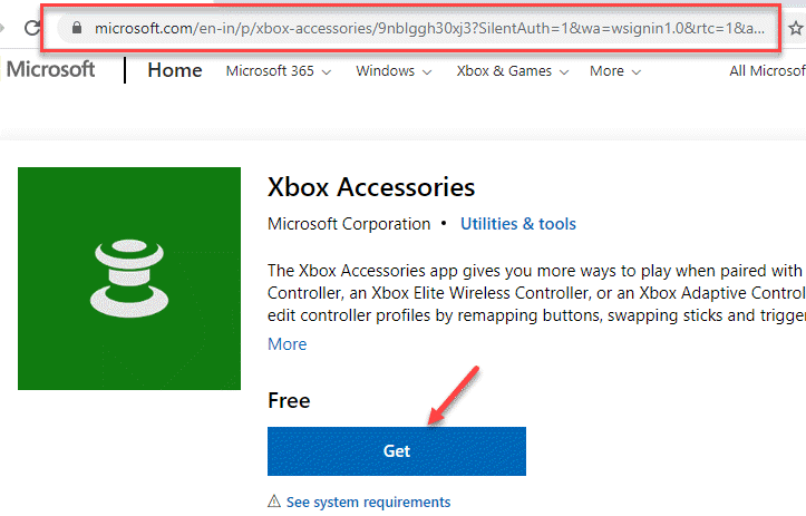 Enlace oficial de Microsoft Accesorios de Xbox Obtener