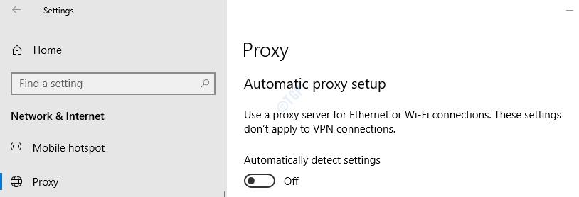 Proxy en la configuración