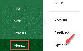 Ms Excel File Más opciones