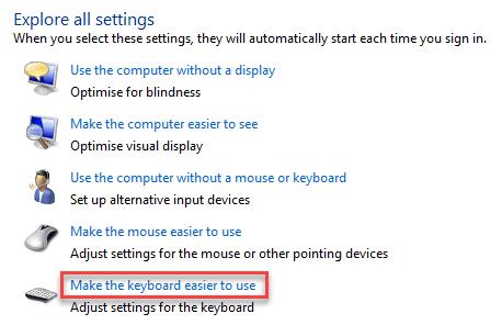 Facilidad de acceso Cneter Explore todas las configuraciones Haga que el teclado sea más fácil de usar