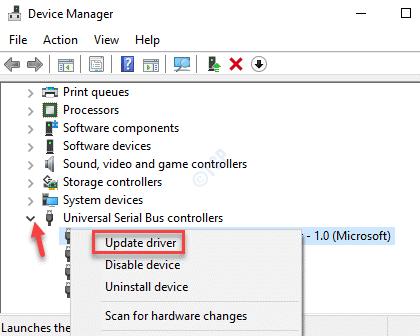 Administrador de dispositivos Controladores de bus serie universal Asmedia Usb 3.0 Controlador de actualización de host extensible Controlador de actualización